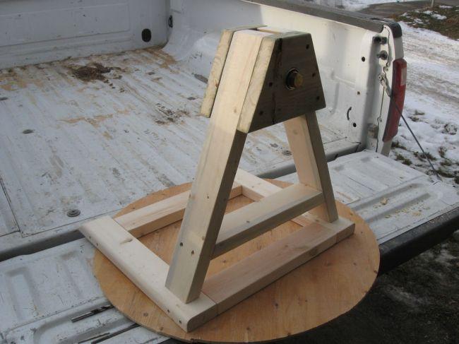 Изготовление и крепление опоры для колеса