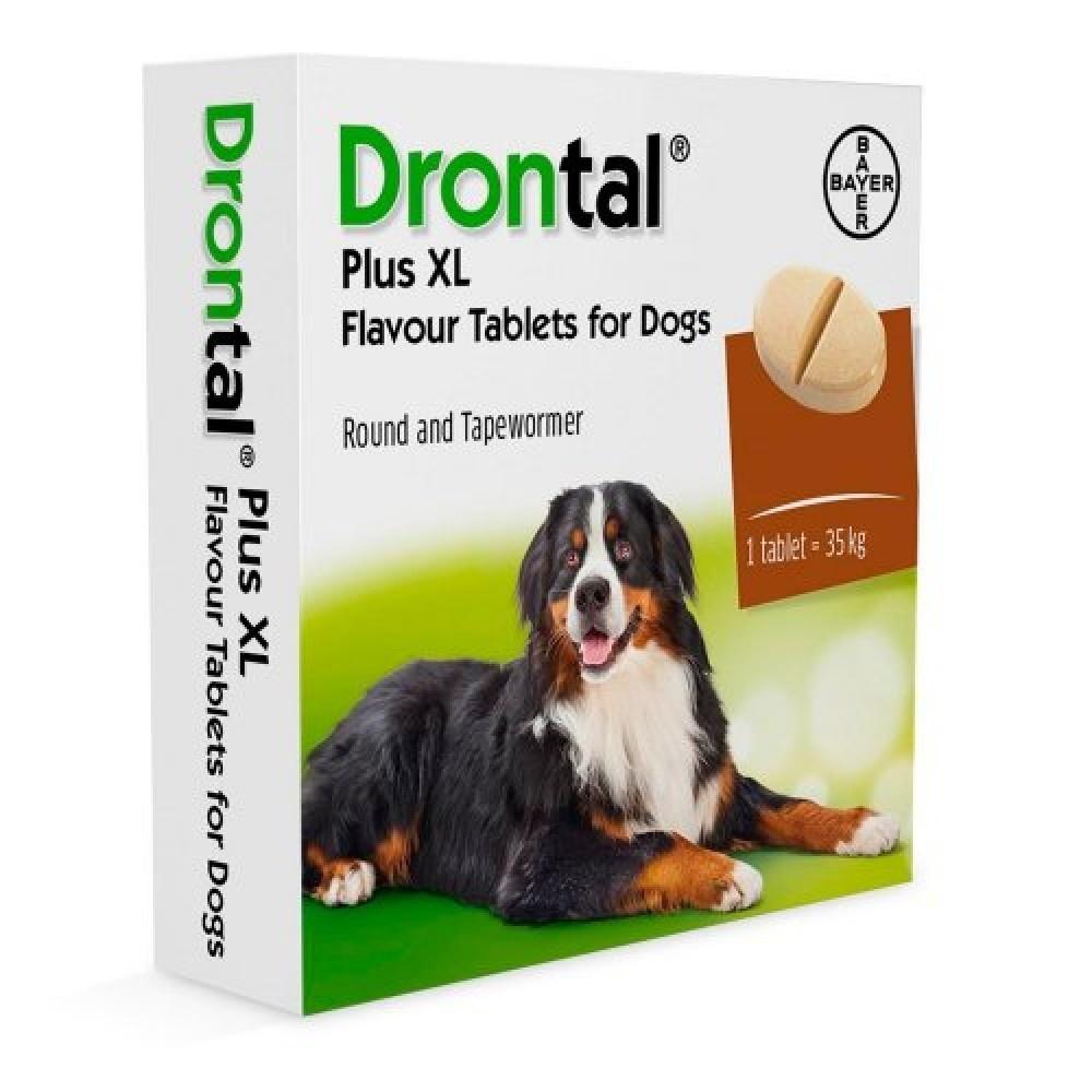 Дронтал и Дронтал Плюс отличаются весомы категориями собак, для которых они предназначены
