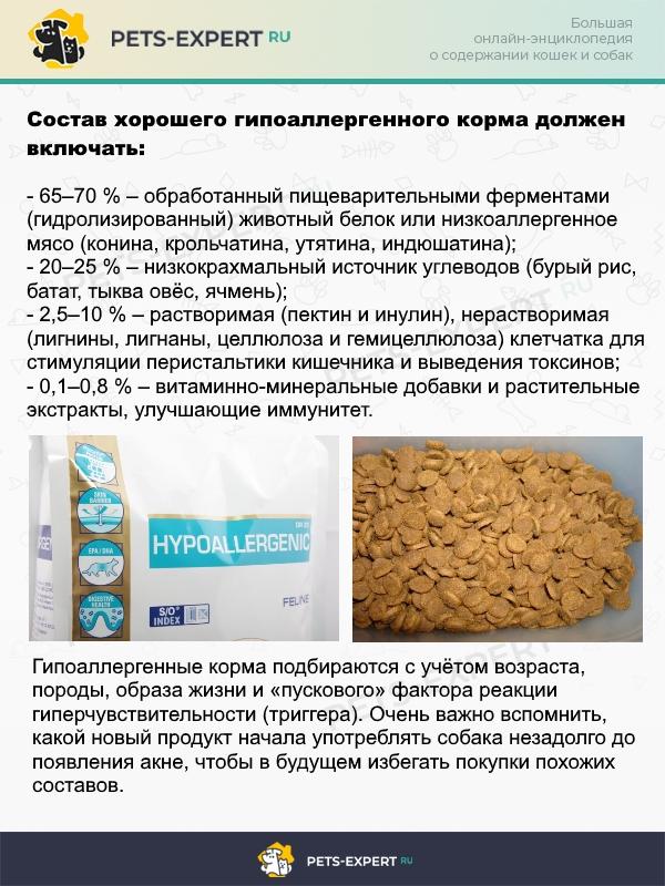 Известные бренды собачьих кормов всегда имеют гипоаллергенные линейки
