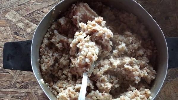 Каша с мясом - не та пища, которой можно кормить акита-ину