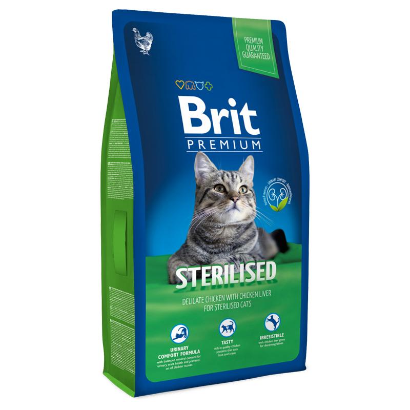 Корм Brit Premium славится своими натуральными консервантами и сравнительно бюджетной стоимостью