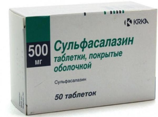 Таблетки Сульфасалазин