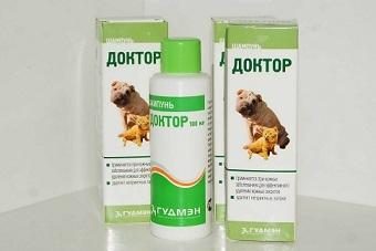 Шампунь Доктор против дерматологических заболеваний у животных