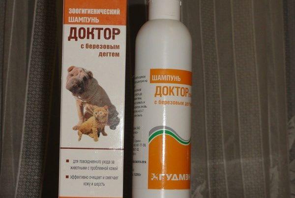 В ветеринарных аптеках представлен широкий ассортимент подходящих шампуней
