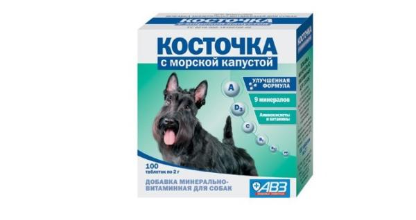 Лакомство для чёрных собак с морской капустой