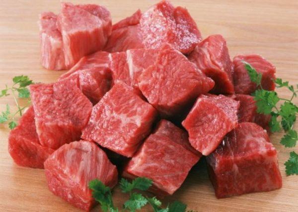 Свежее мясо должно занимать не менее 70% в миске чунцина