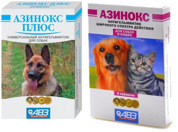 Азинокс плюс и Азинокс для кошек и собак