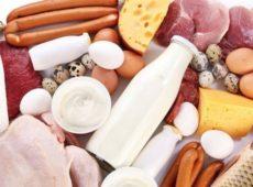 Белковые продукты (курятина, говядина, печень, потроха, морская рыба, кисломолочная группа)