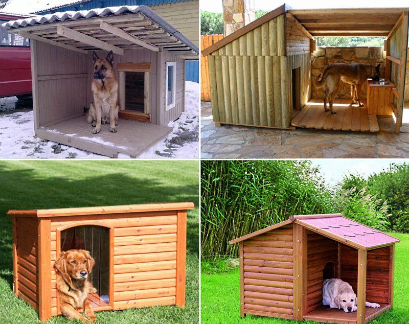 Будки для собак различных конструкций