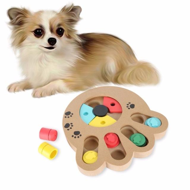 Интеллектуальная игрушка с кормом для собак