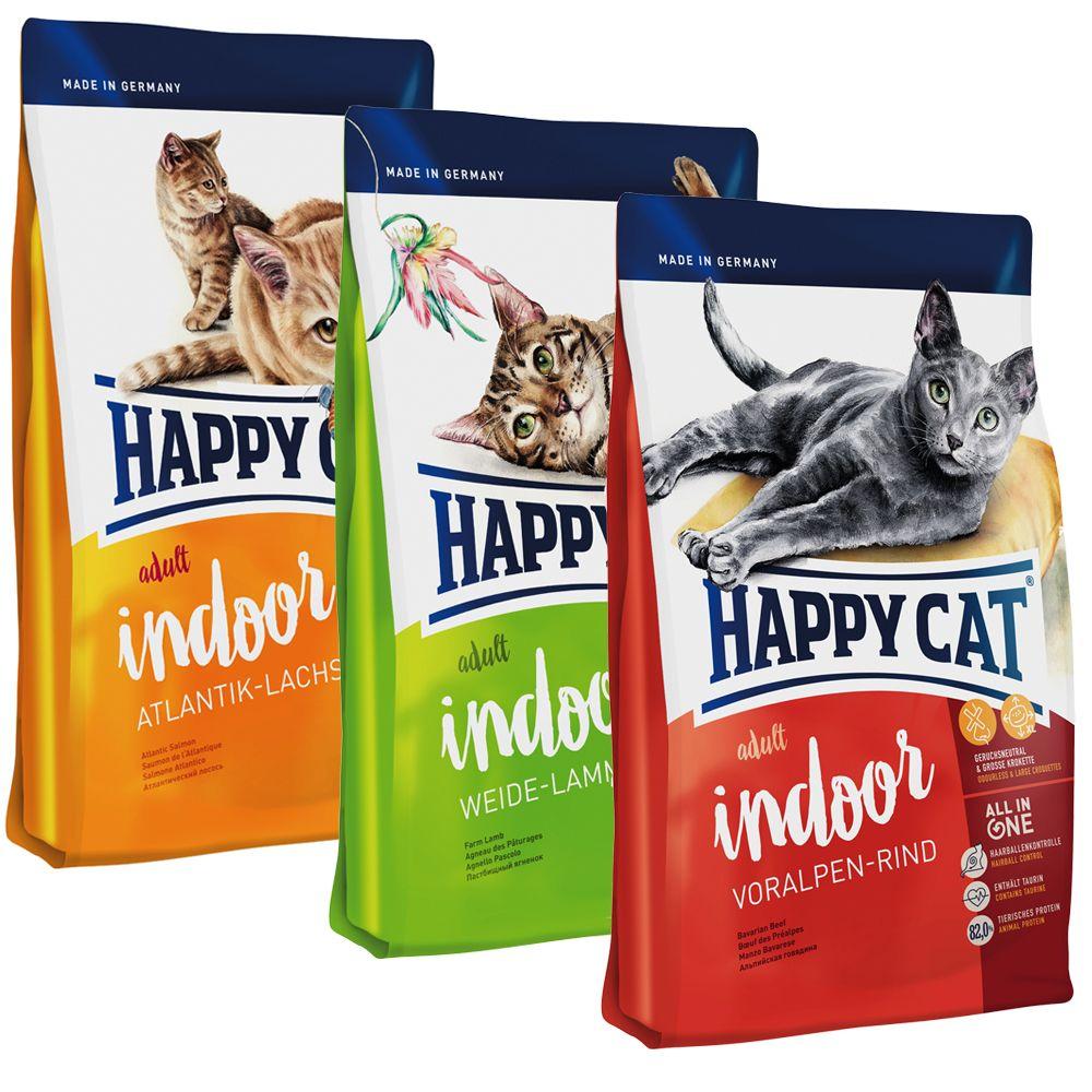 Линейка кормов для домашних котов Happy Cat DE