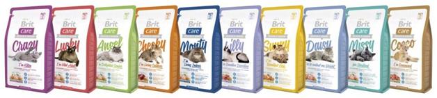 Линия кормов «Britcare» имеет богатый ассортимент и подходит для питания разным групповым категориям кошек