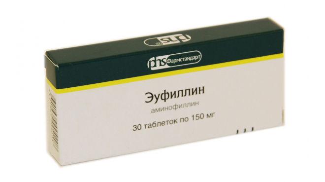 Препарат Эуфиллин в форме таблеток