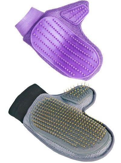 Расчёска-варежка двух видов