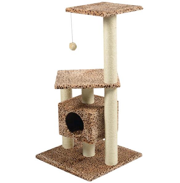 Чтобы развлечь сиамского котенка и приучить его к заточке когтей используйте игровые комплексы