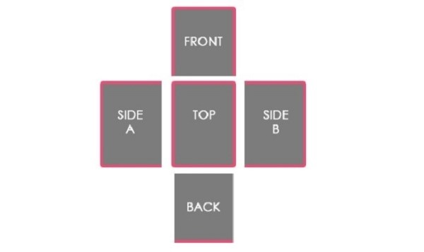 Схема, по которой необходимо прошивать чехлы тесьмой
