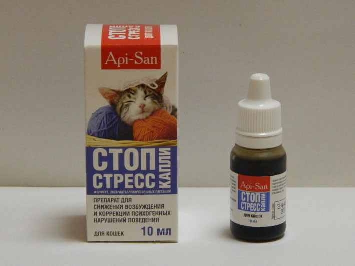 Антистресс капли успокоительные для кошек