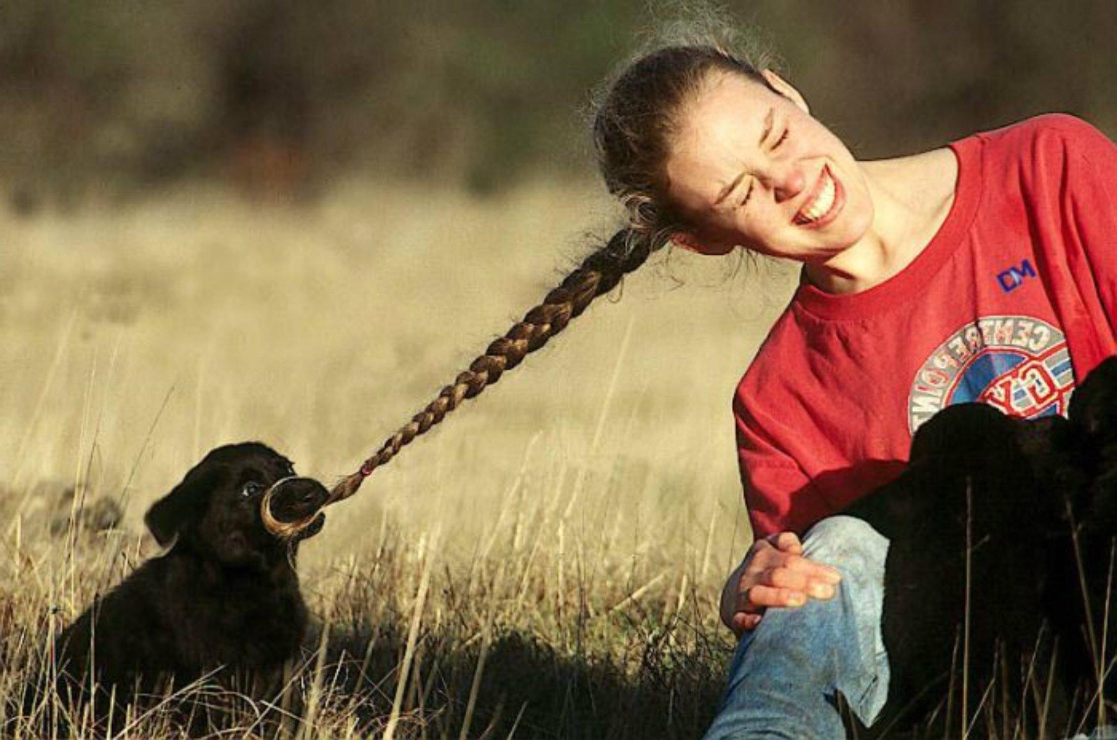 Важно не давать доступ щенку до частей вашего тела, перенаправляя его активность на другие предметы