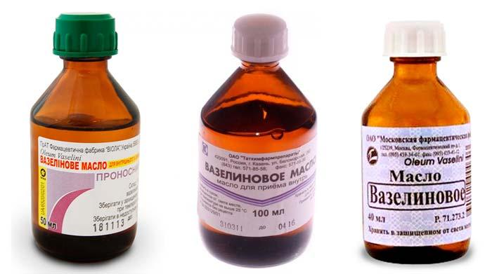 Вазелиновое масло мягко воздействует на стенки толстой кишки