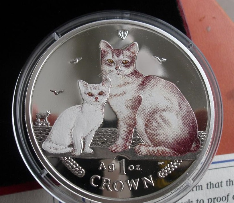 Монета с бурмиллой и котенком