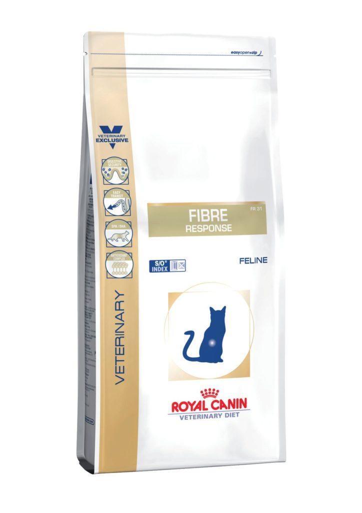 Сухой корм для кошек при запорах с повышенным содержанием клетчатки