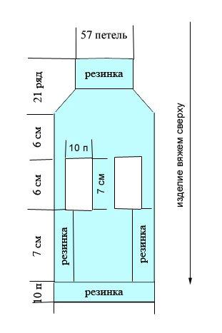 Схема жилета
