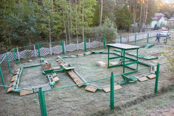 Дрессировочная площадка для охотничьих норных собак