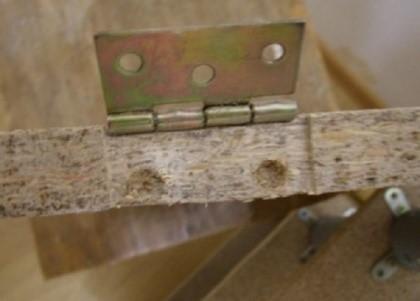 Как правильно закреплять дверные петли
