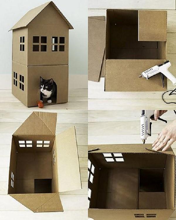 Облегченный вариант кошачьего домика