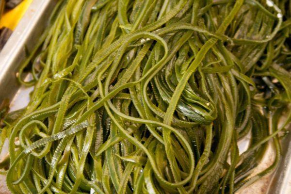 Морская капуста улучшает состояние кожных и волосяных покровов благодаря содержащемуся в ней йоду