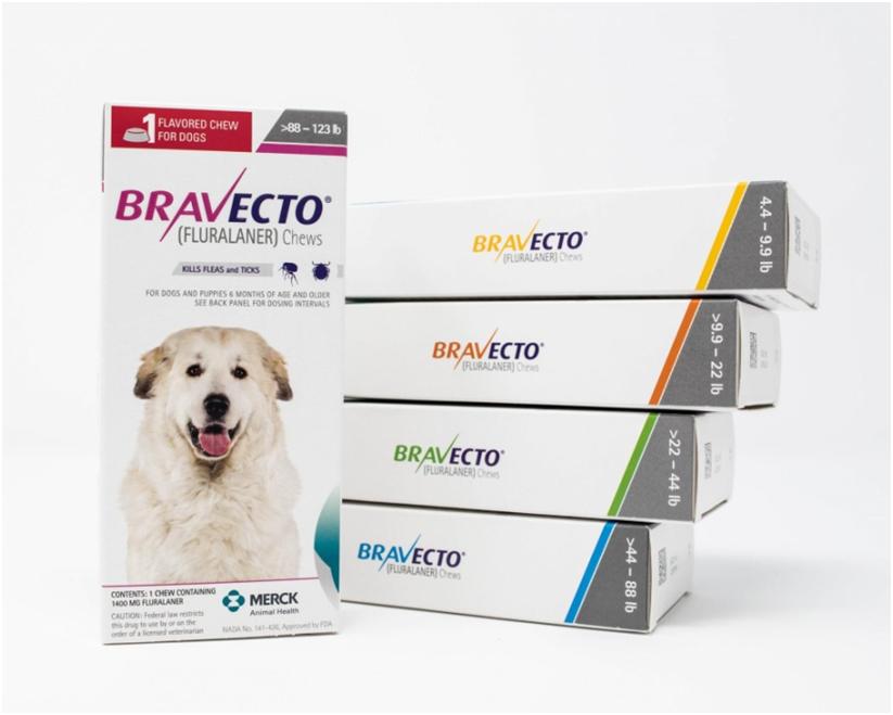 Препарат для приема внутрь «Бравекто» для собак