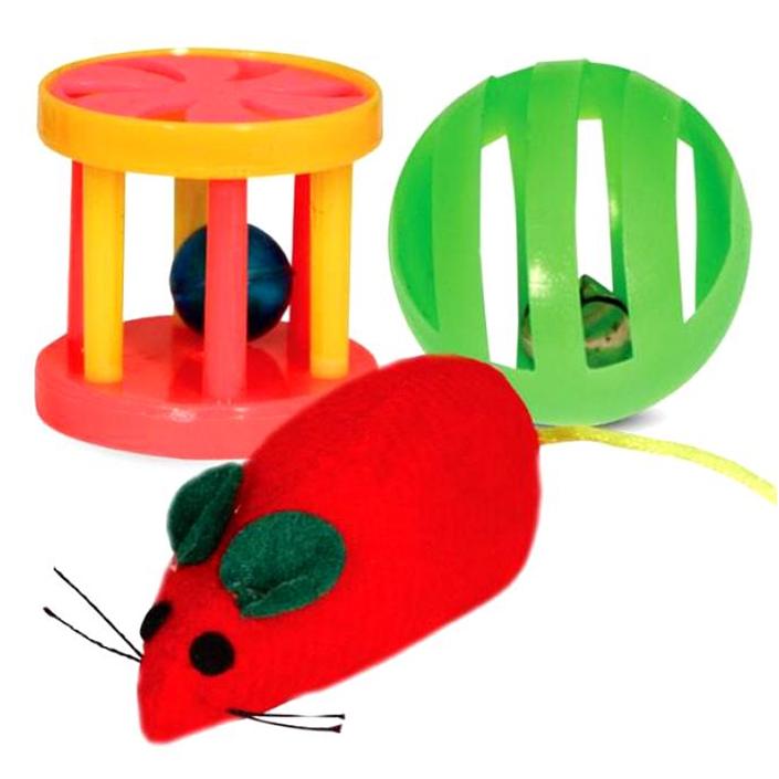 Приобретите котенку разнообразные игрушки, чтобы ему не было скучно