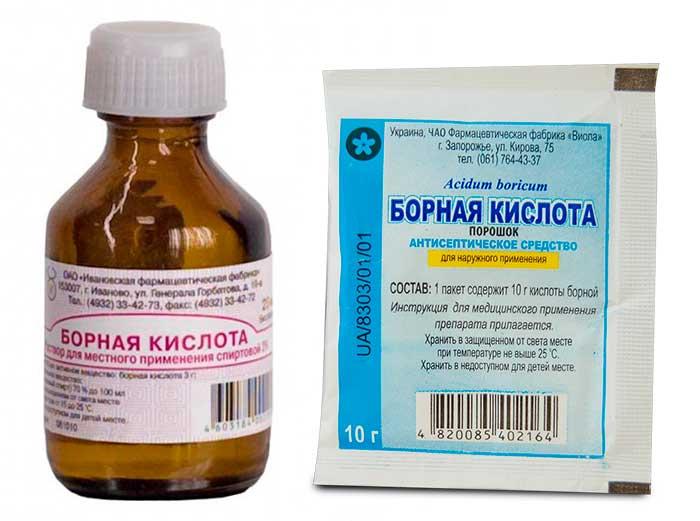 Борную кислоту эффективно использовать при очистке глаз питомца