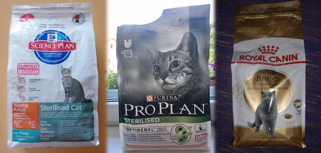 Корма премиум класса для кошек